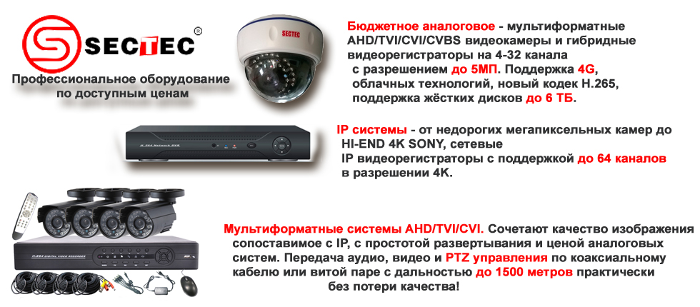 Системы видеонаблюдения и сигнализации для дачи